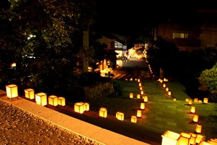 吉野山 桜燈火 道