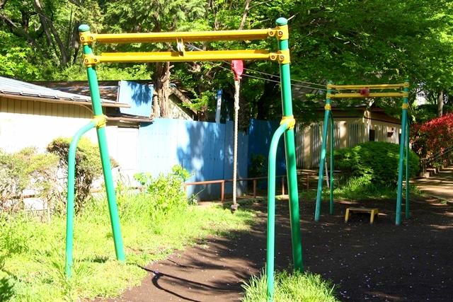 石神井公園のターザンロープ