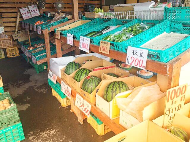 音の花温泉、野菜果物販売