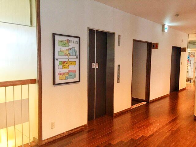 本谷温泉のエレベーター