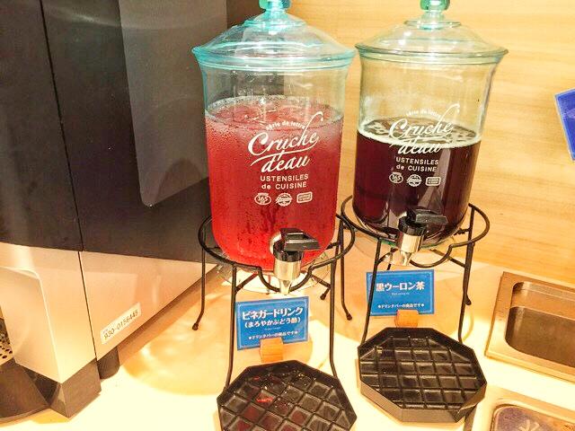 なべいちのビネガードリンク(まろやかぶどう酢)・黒ウーロン茶