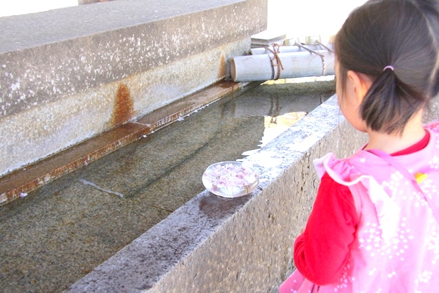 吉野神宮の手水舎
