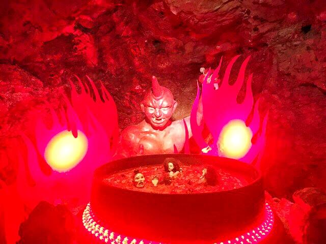 小原洞窟内の鬼