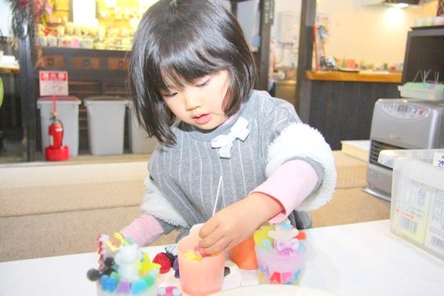 3才の子どもでもできる、高島びれっじのキャンドル体験