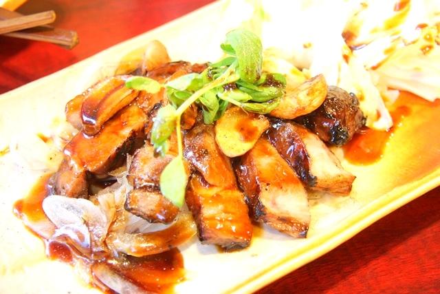鶏飛人のスペイン産テルエル豚トンテキ