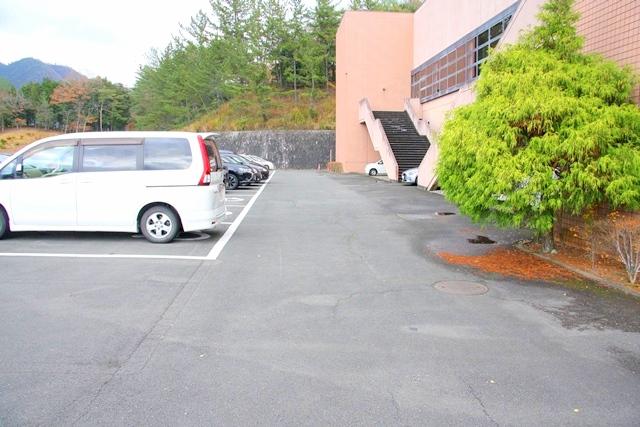 福知山市三段池公園の駐車場