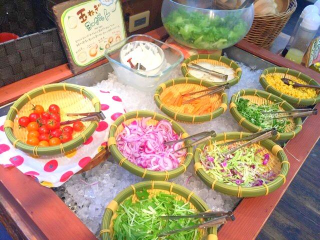 モクモクファームPaPaビアレストランの野菜