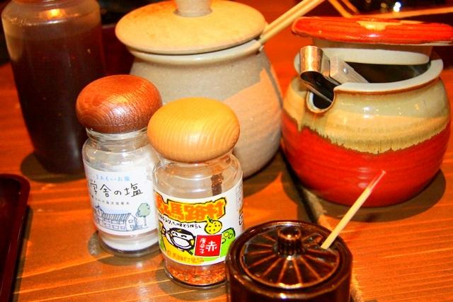 モクモクファームにある、農村料理の店もくもくのソースや薬味
