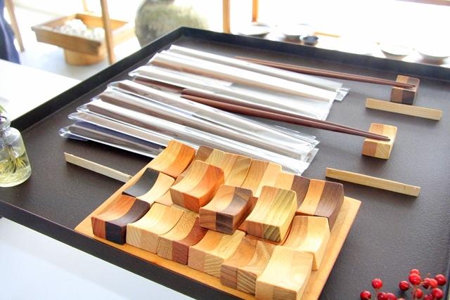 アクアイグニスギャラリー温onのお箸と箸置き