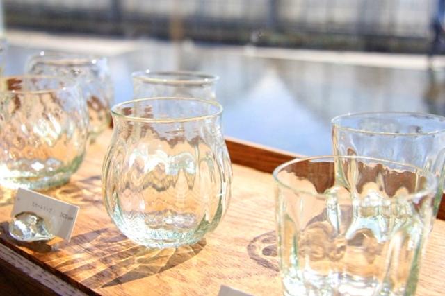 アクアイグニスギャラリー温onで展示、販売されているガラス製品