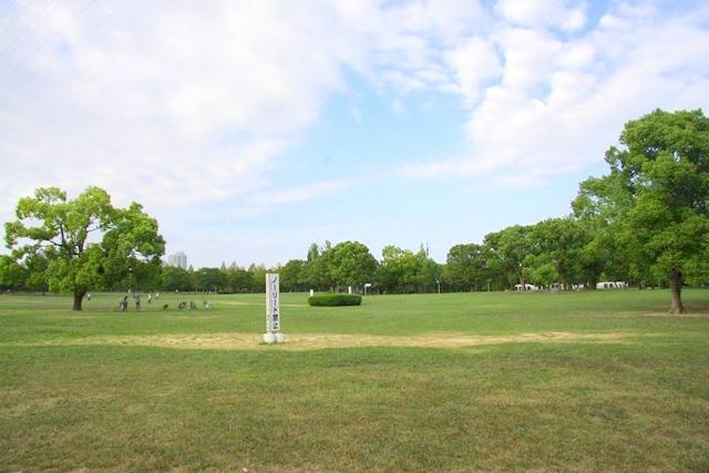 鶴見緑地、大芝生