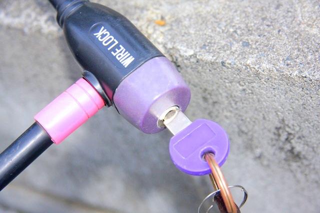 自転車のワイヤーロックの鍵が開かない時にやってみること