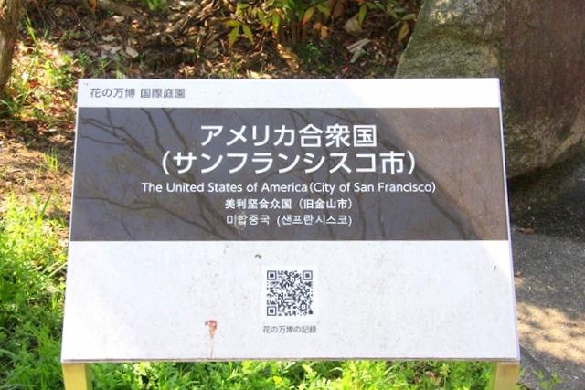 花博記念公園鶴見緑地 山のエリア、国際庭園のサンフランシスコ庭園