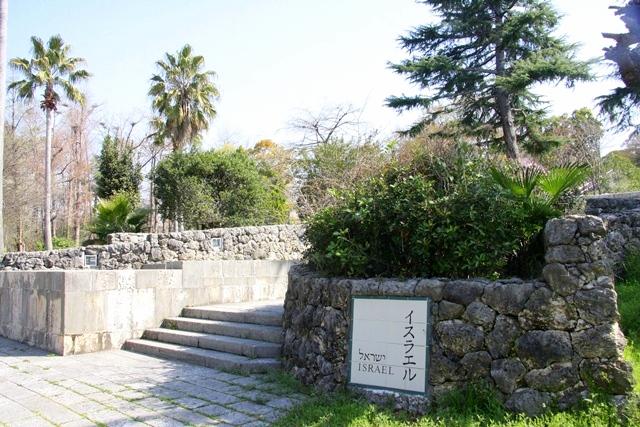 花博記念公園鶴見緑地 山のエリア、国際庭園のイスラエル庭園