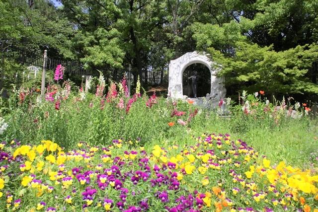 花博記念公園鶴見緑地、国際庭園内のオーストリア庭園